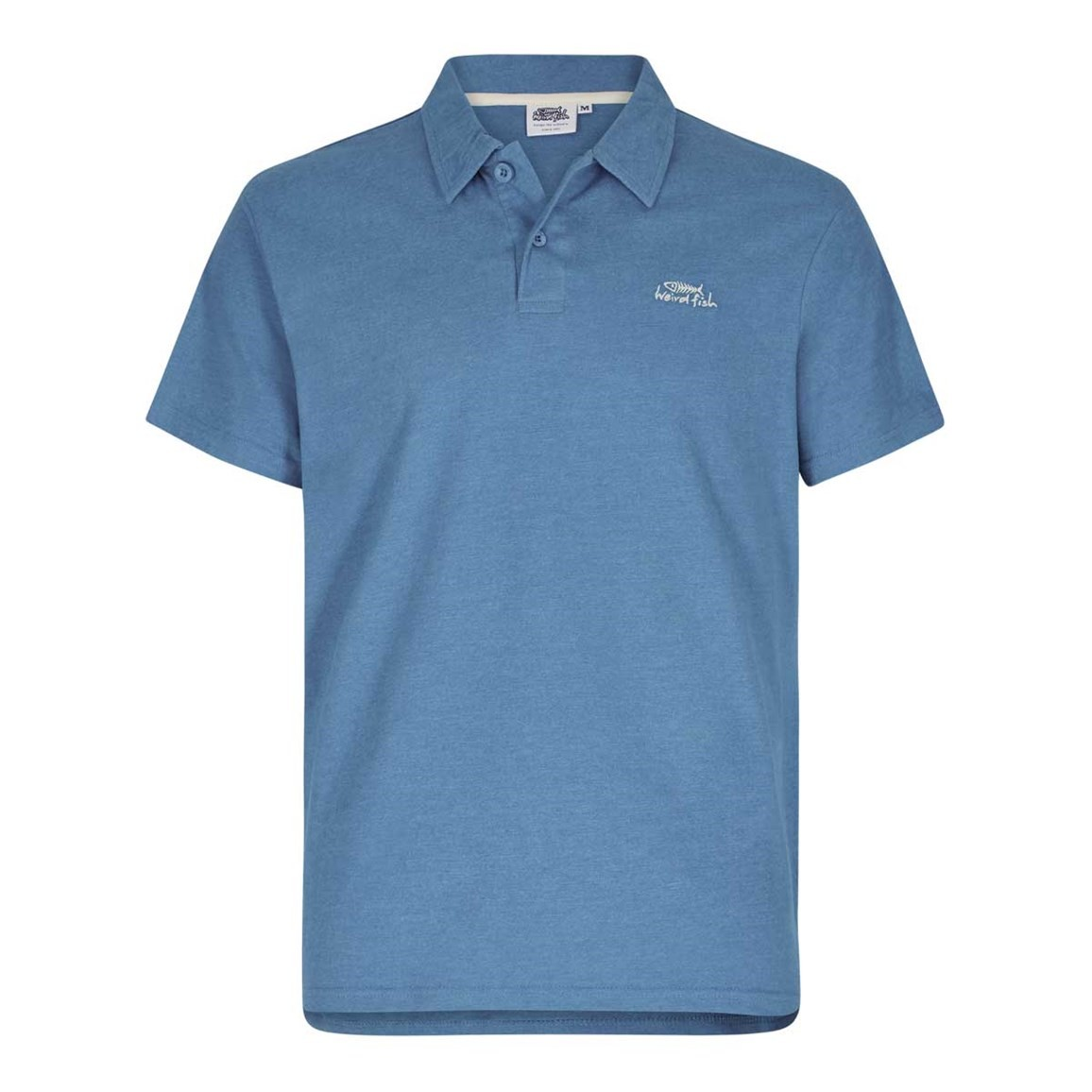 Weird fish andy embroidered logo jersey polo shirt ebay for Embroidered logos on shirts