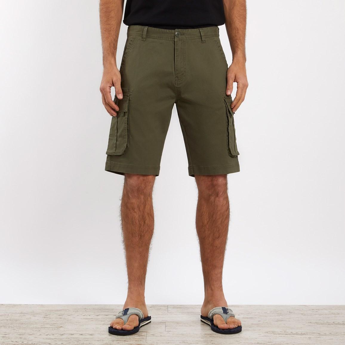 Weird Fish Brize Cotton Twill Cargo Shorts