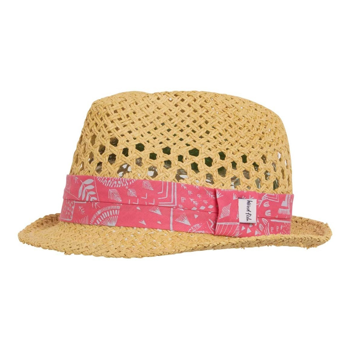 Weird Fish Indiana Straw Trilby Hat Natural