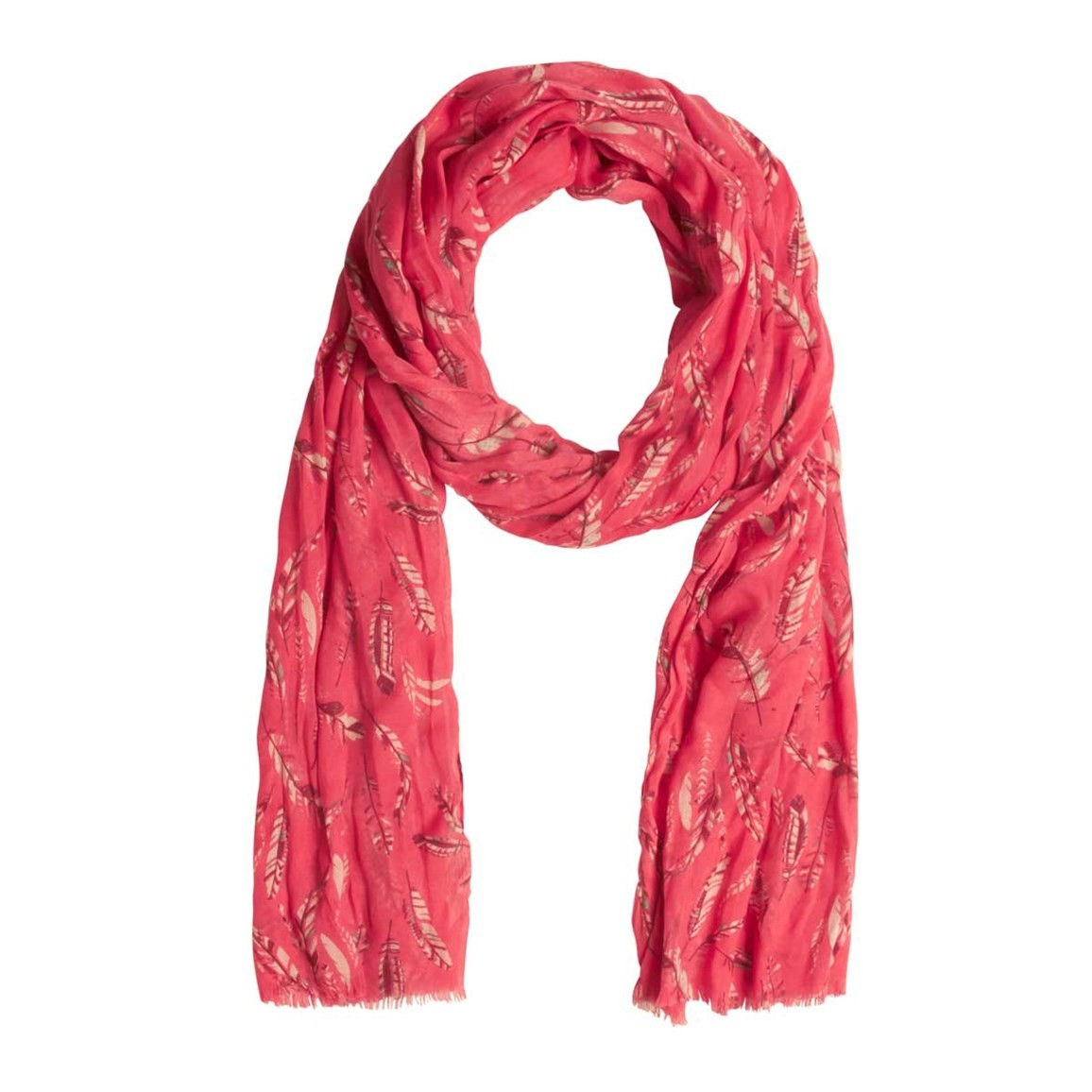 Weird Fish Alverton All Over Print Soft Handle Scarf Bright Coral