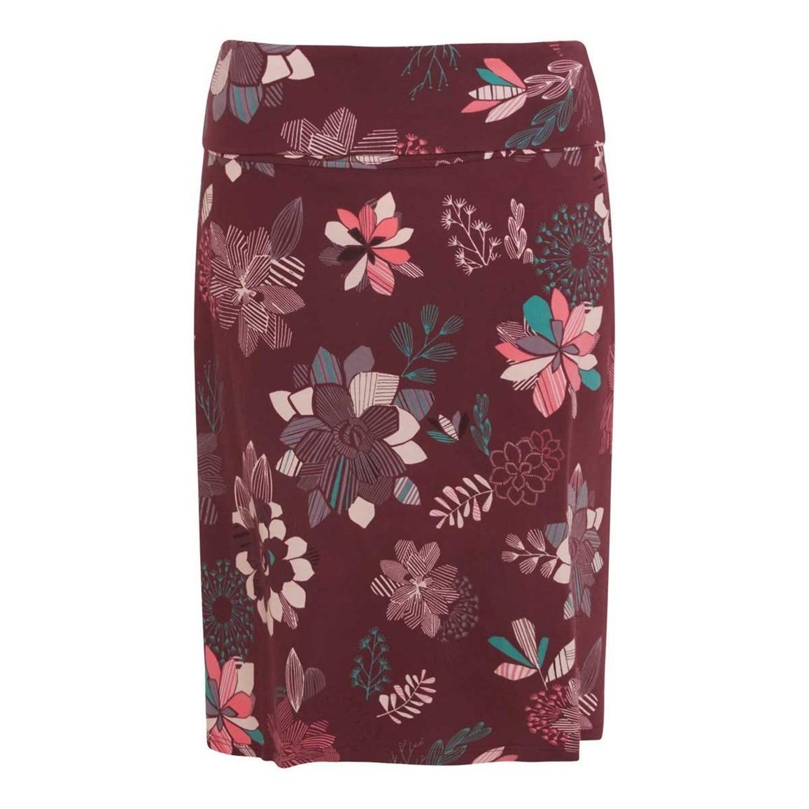 Weird Fish Malmo Printed Jersey Skirt Soft Port