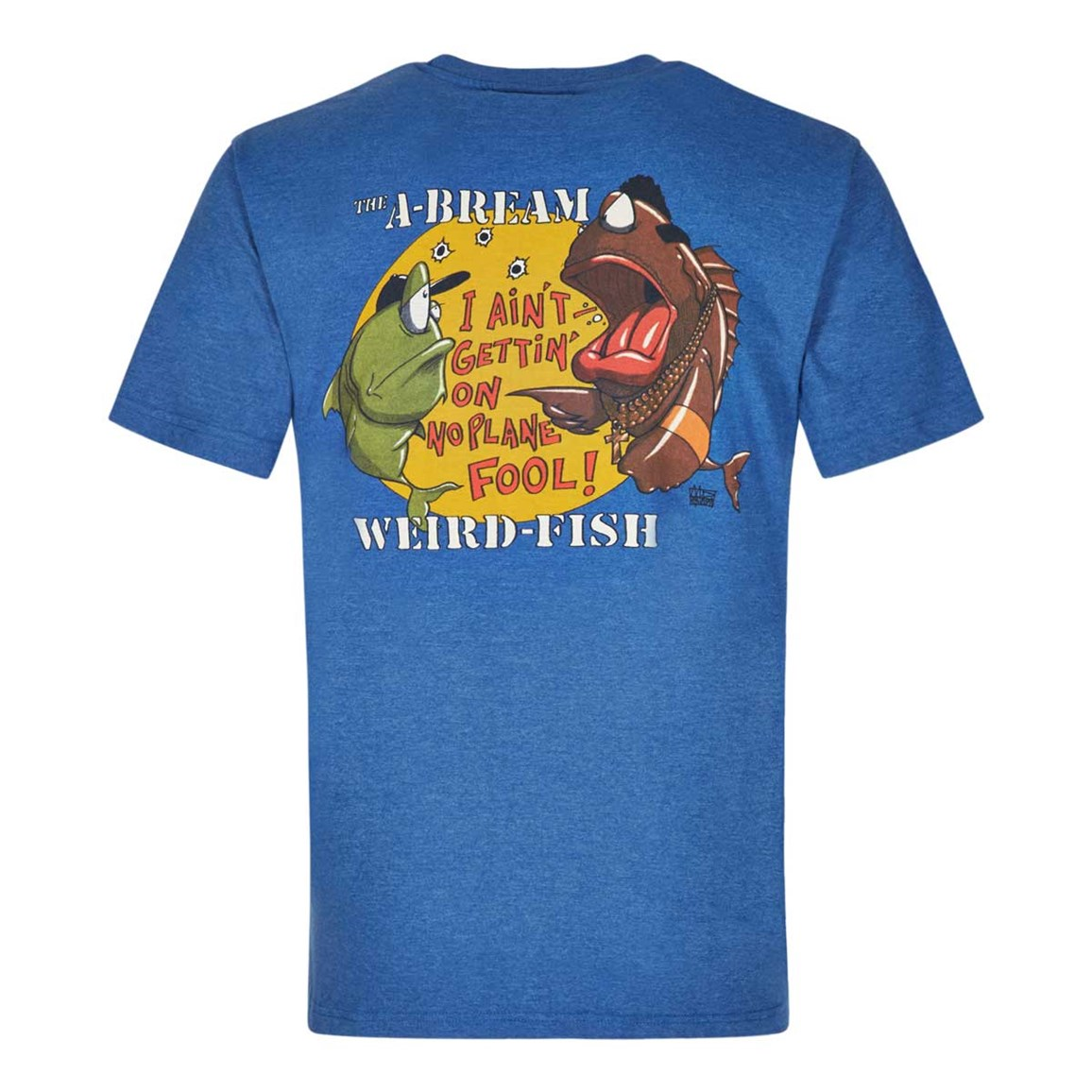 Weird Fish A-Bream Printed Artist T-Shirt Dark Blue Marl