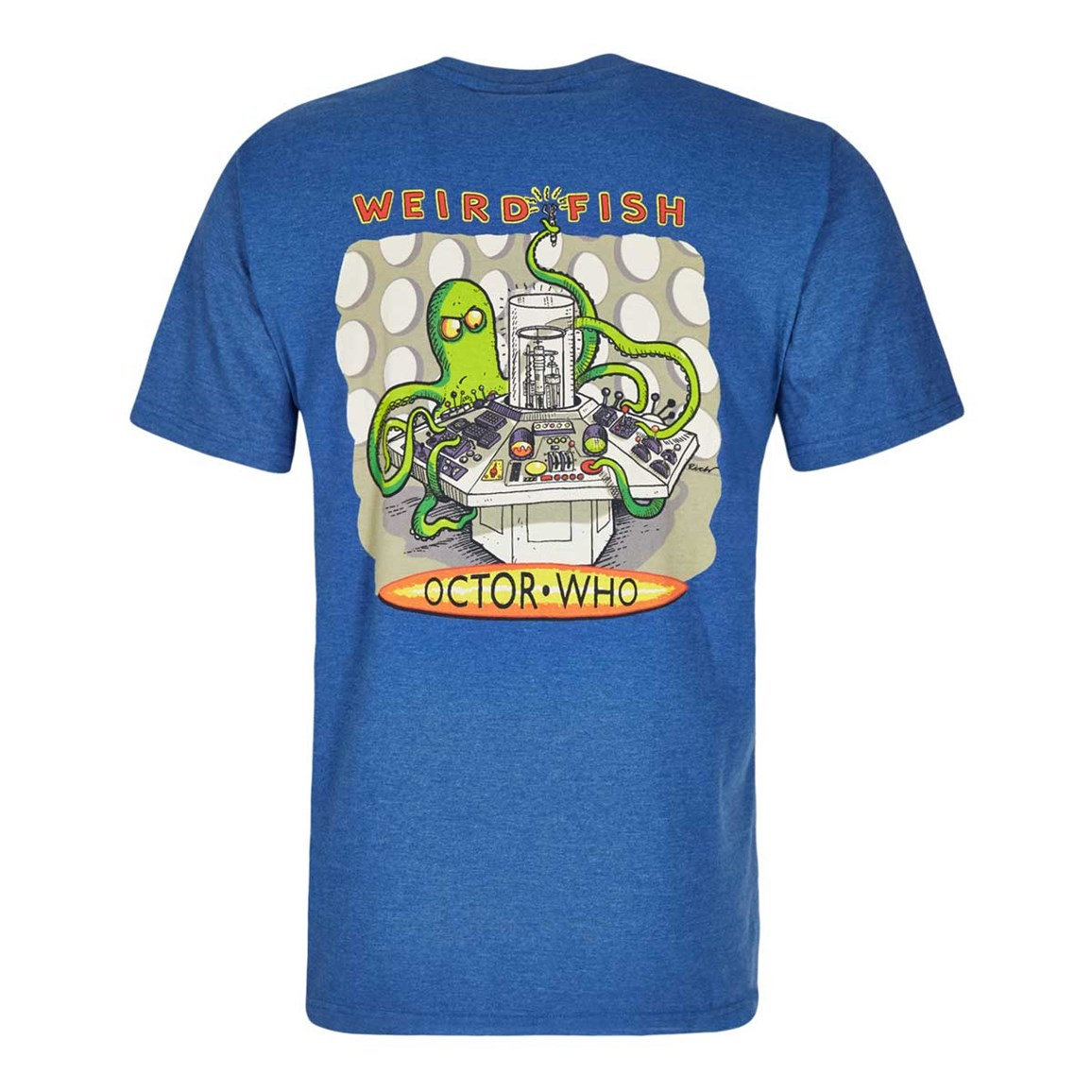 Weird Fish Octor Who Printed Artist T-Shirt Dark Blue Marl