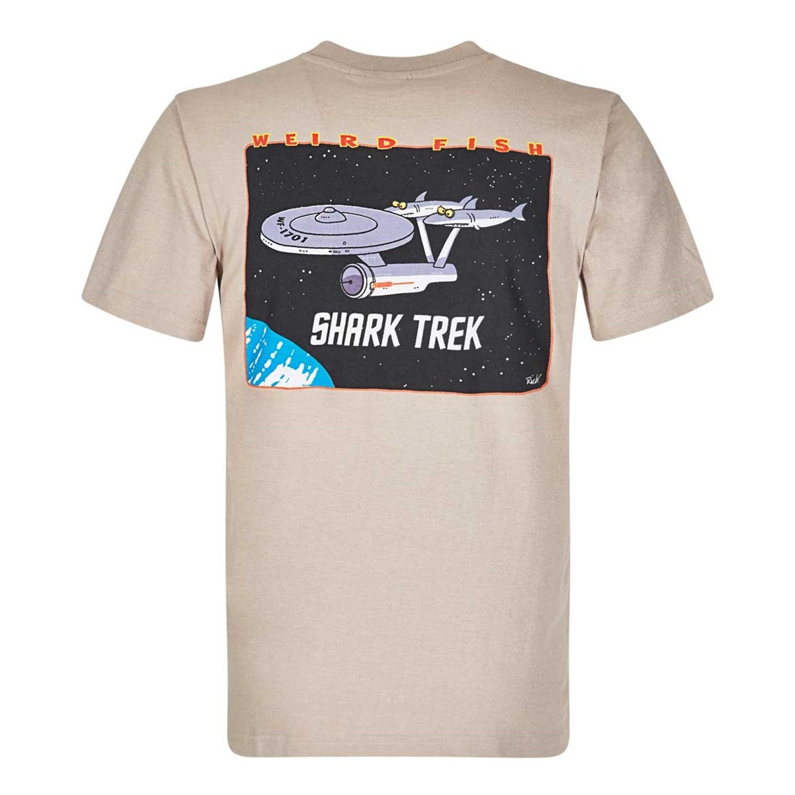 Image of Weird Fish Shark Trek Printed Artist T-Shirt String Size 5XL