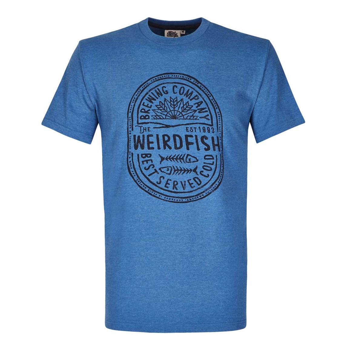 Weird Fish WF Brewing Co Graphic Print T-Shirt Dark Blue Marl