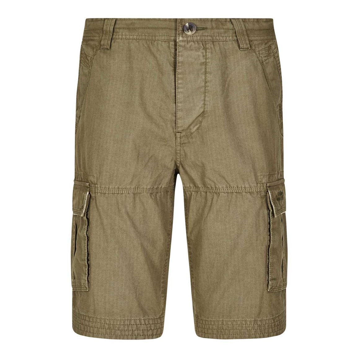 Weird Fish Oso Cotton Cargo Short Military Olive