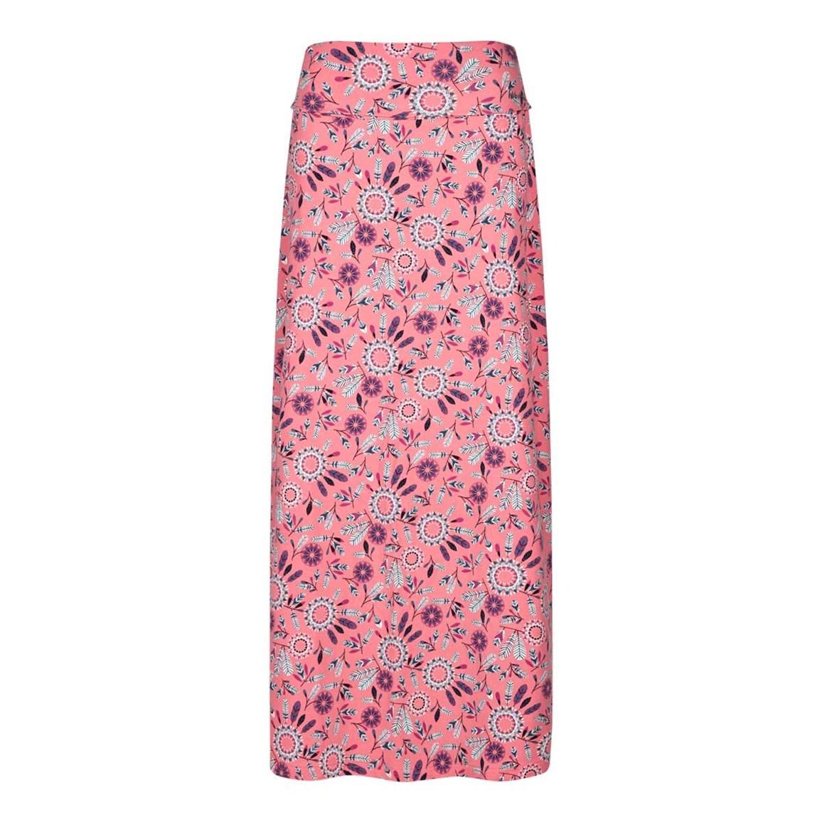 Weird Fish Suzette Printed Jersey Skirt Coral Pink