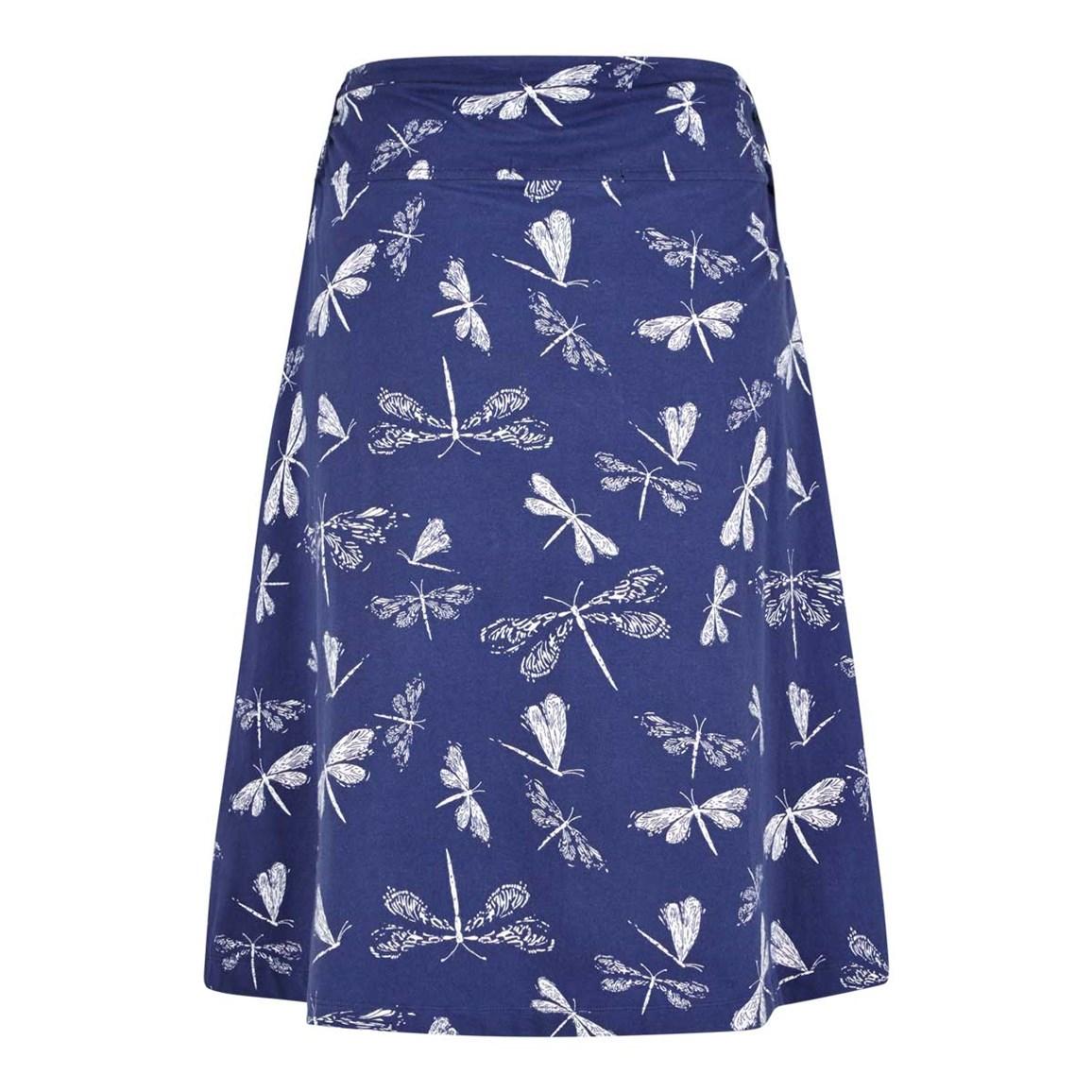 malmo printed jersey skirt navy blue