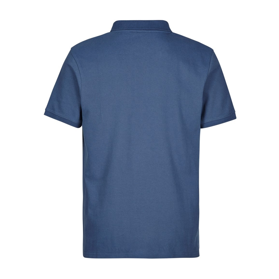 Saltash Rib Collar Pique Polo Shirt Ensign Blue
