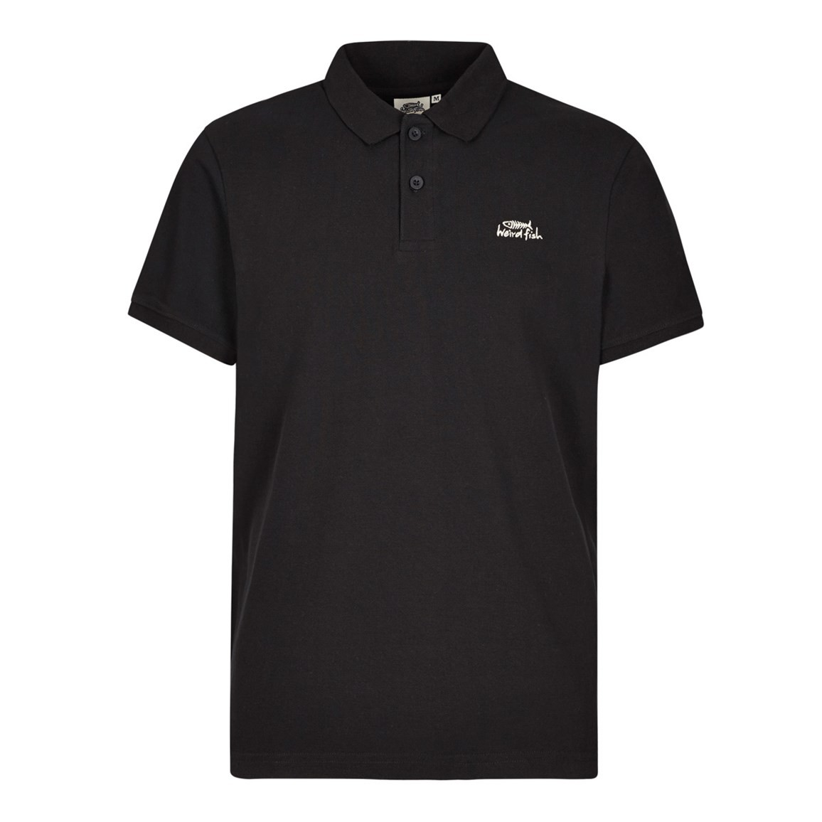 Saltash Rib Collar Pique Polo Shirt Black