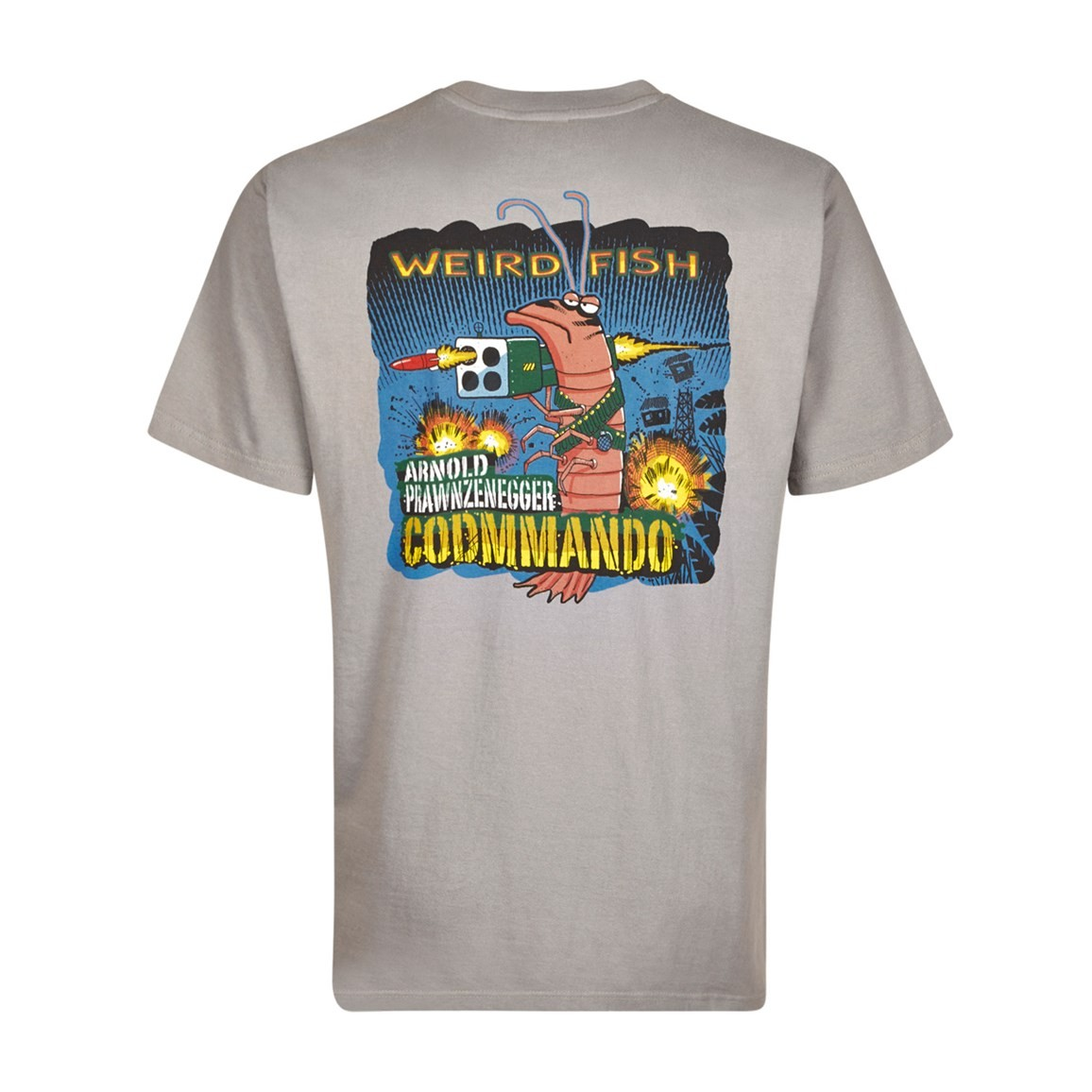 Weird Fish Codmmando Printed Artist T-Shirt Frost Grey