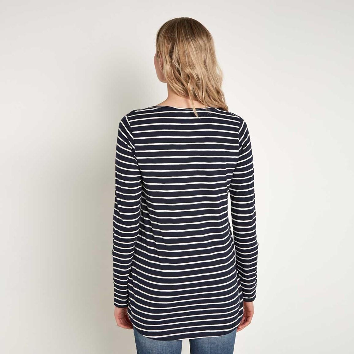 Mns navy striped shirt