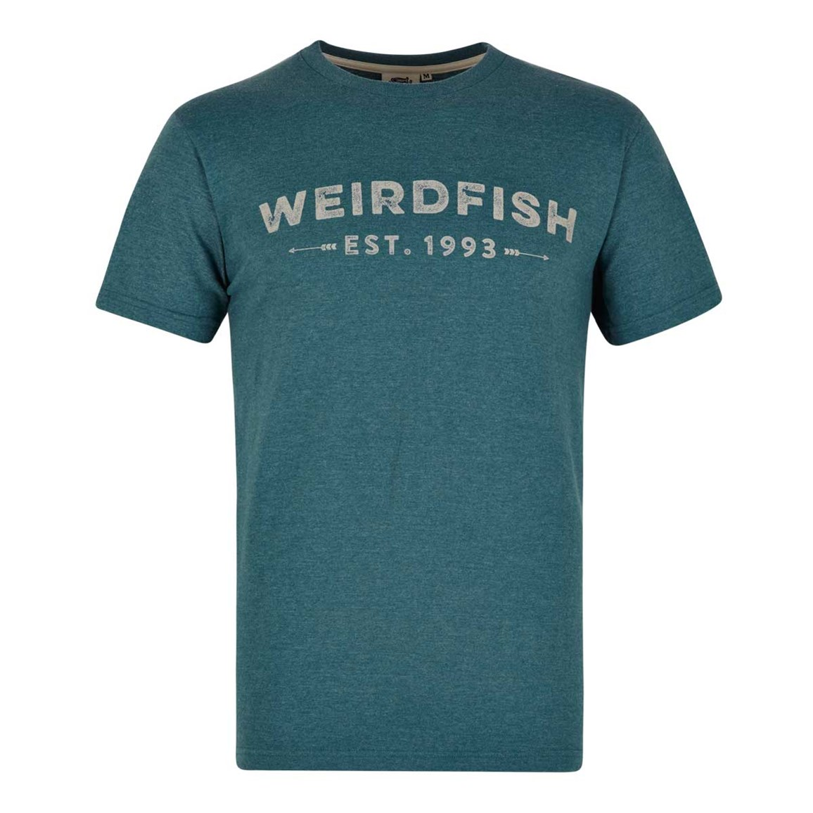 Image of Weird Fish Yang Jersey Marl Graphic Print T-Shirt Sea Green Size L