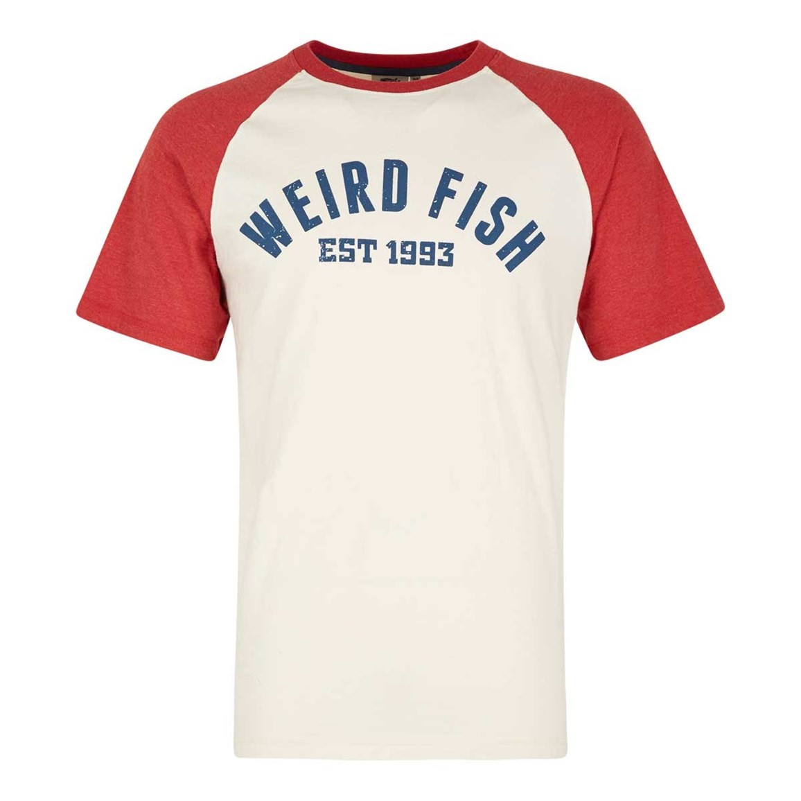 Weird Fish Ying Jersey Raglan Graphic Print T-Shirt Baked Apple