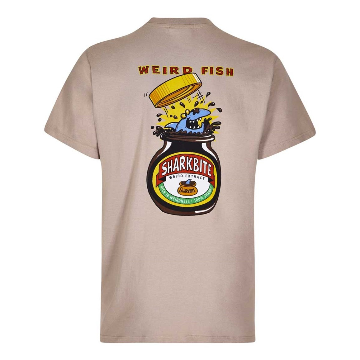 Weird Fish Shark Bite Printed Artist T-Shirt String