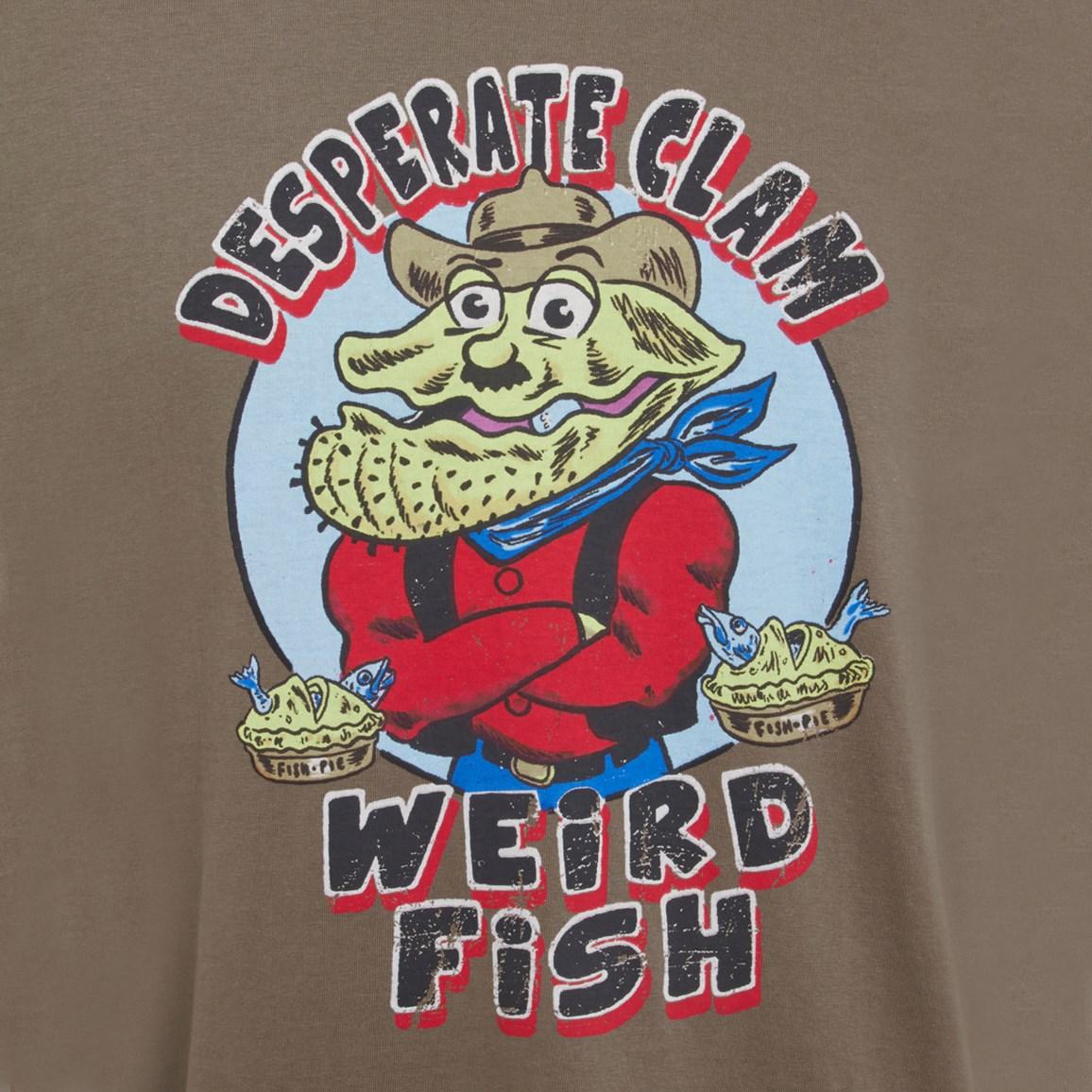 Image of Weird Fish Desperate Clam Artist T-Shirt Mushroom Size 4XL