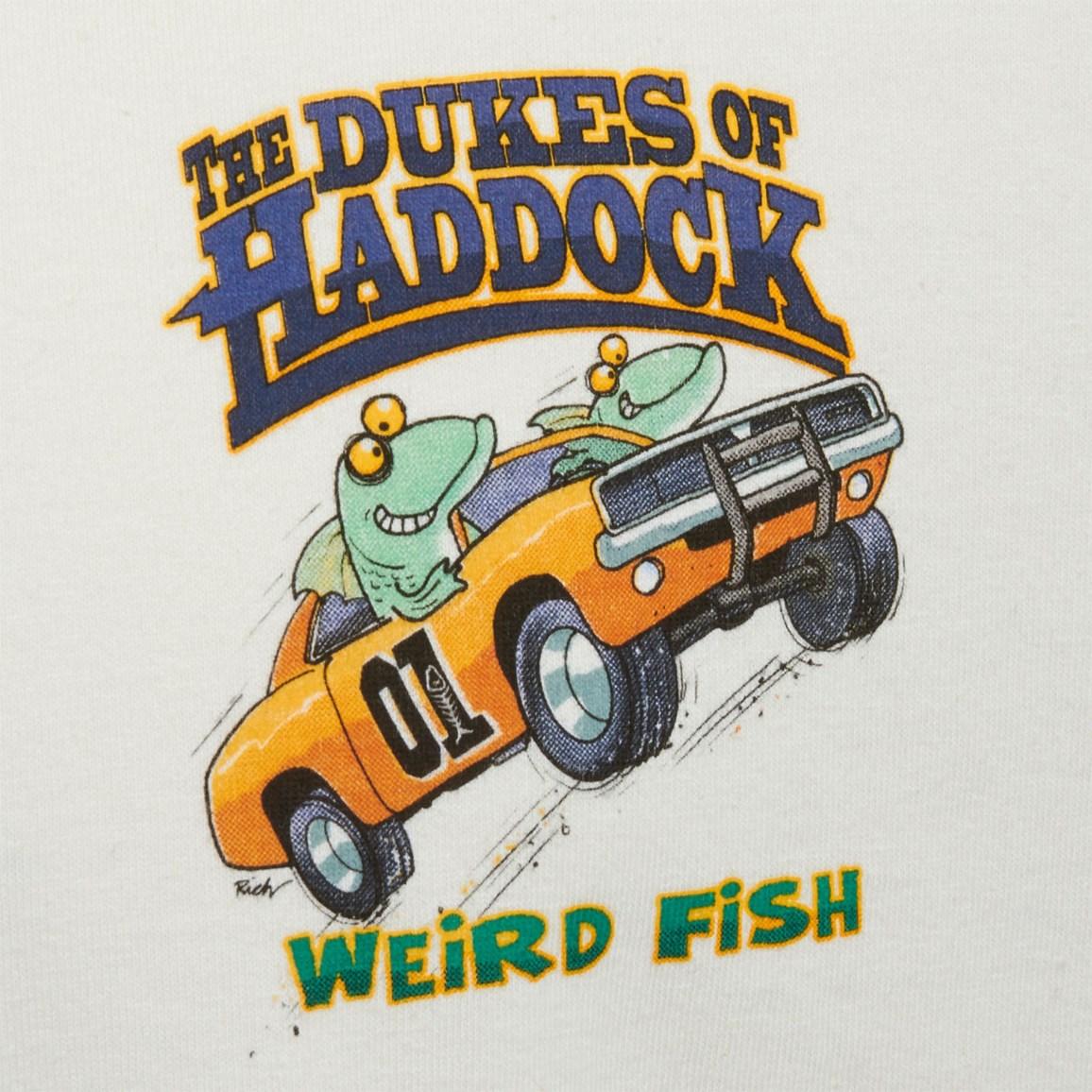 Image of Weird Fish Dukes Of Haddock Artist T-Shirt Ecru Size L