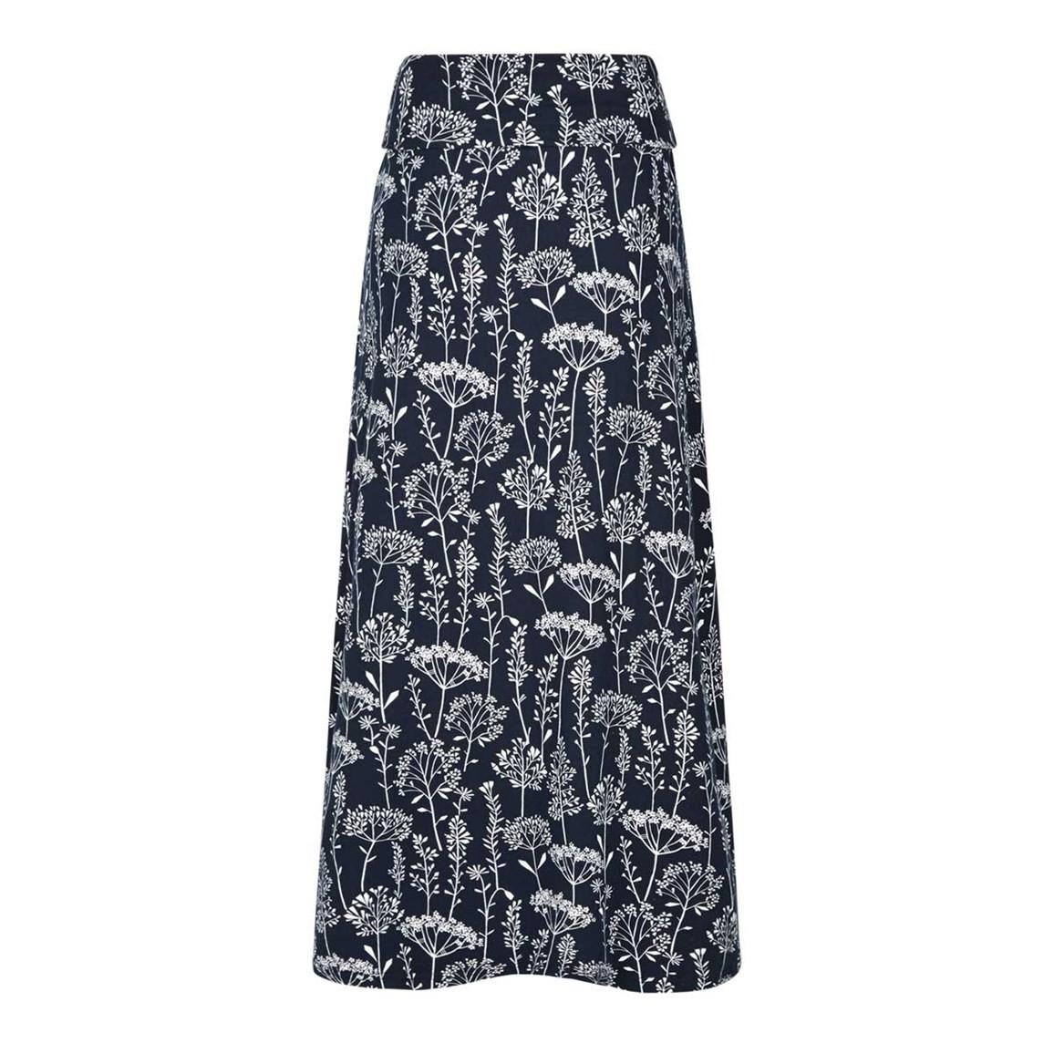 Suzette Printed Jersey Skirt Navy