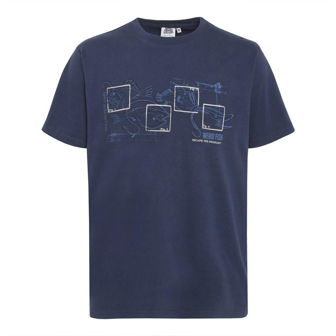 Fishbait Graphic Print T Shirt Midnight