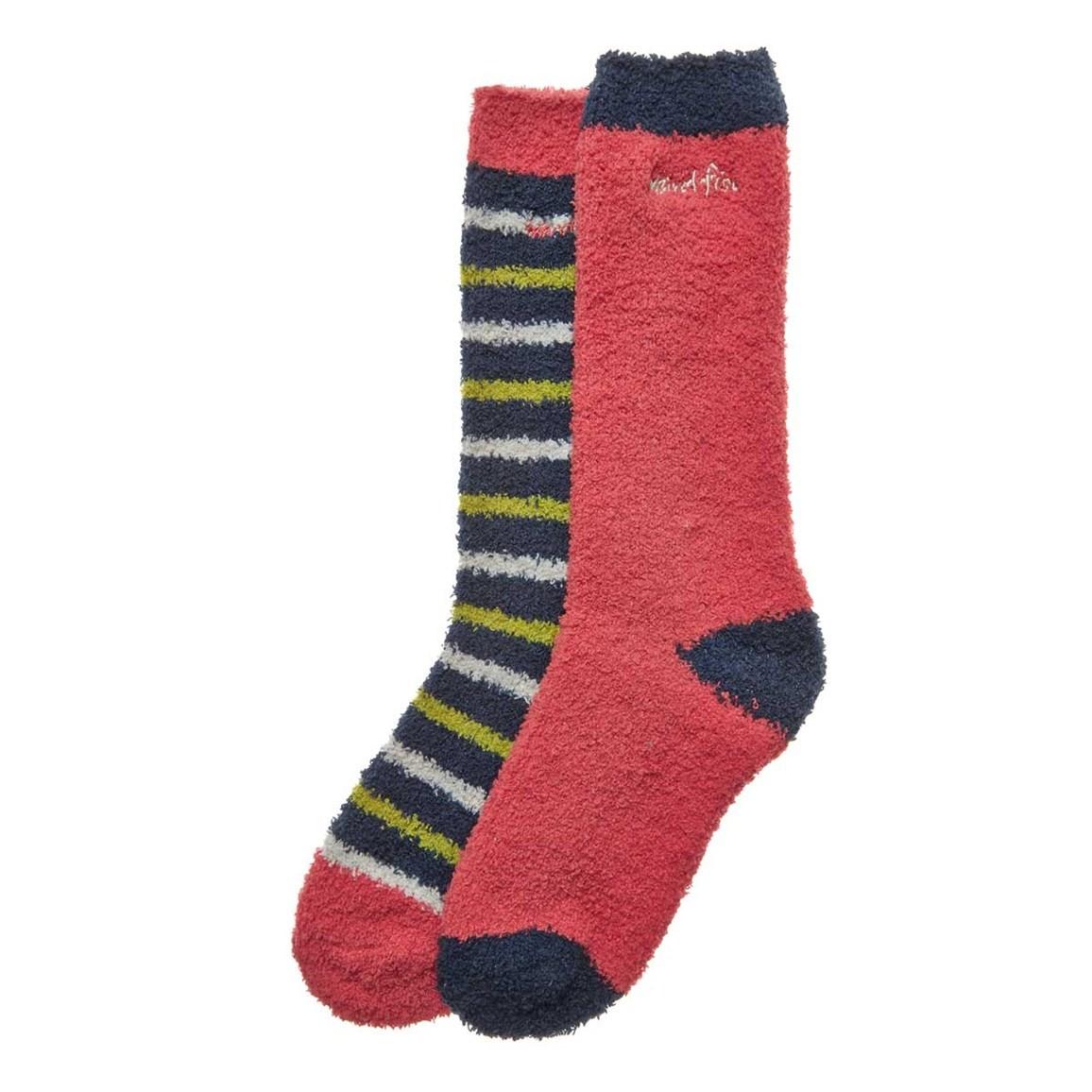 Weird Fish Park Fluffy Socks 2 Pack Dark Navy