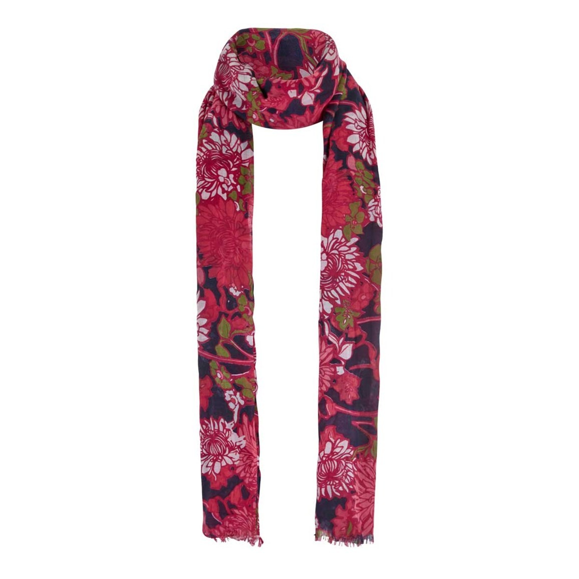 Weird Fish Alverton All Over Print Soft Handle Scarf Begonia Pink