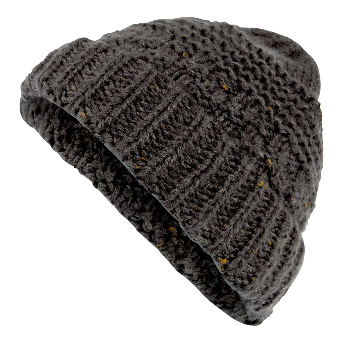 Weird Fish Rusutsu Cable Knit Beanie Dark Shadow