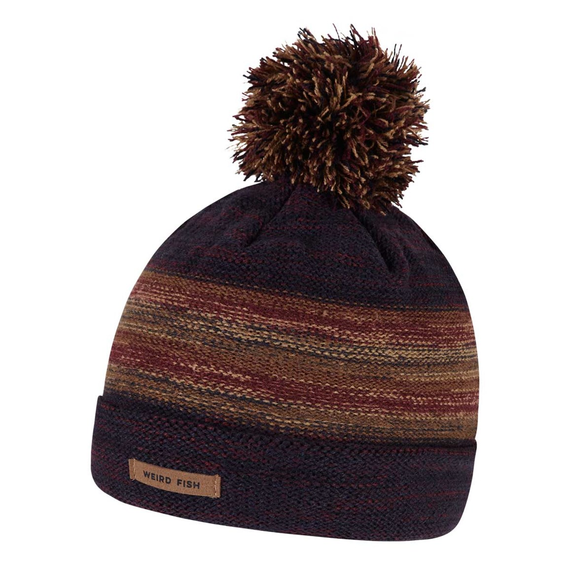 Weird Fish Powderhorn Bobble Hat Mulled Wine