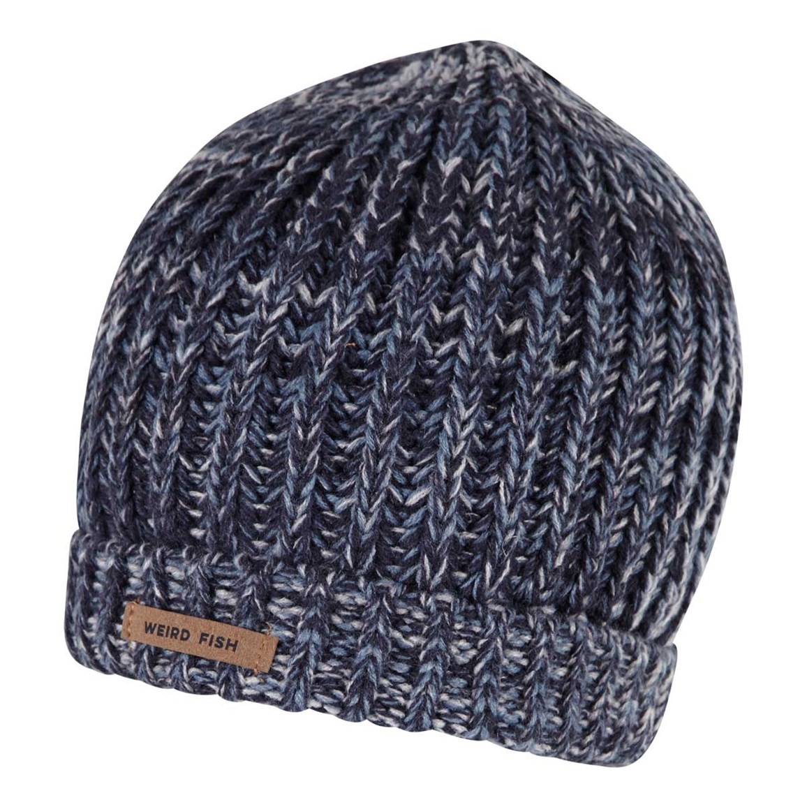 Weird Fish Killington Chunky Knit Beanie Dark Navy
