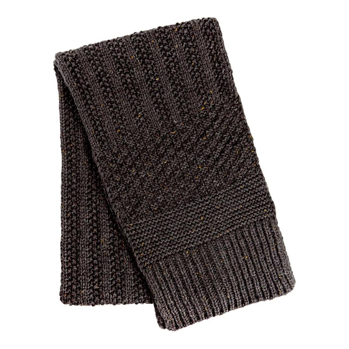 Weird Fish Shiga Cable Knit Scarf Dark Shadow