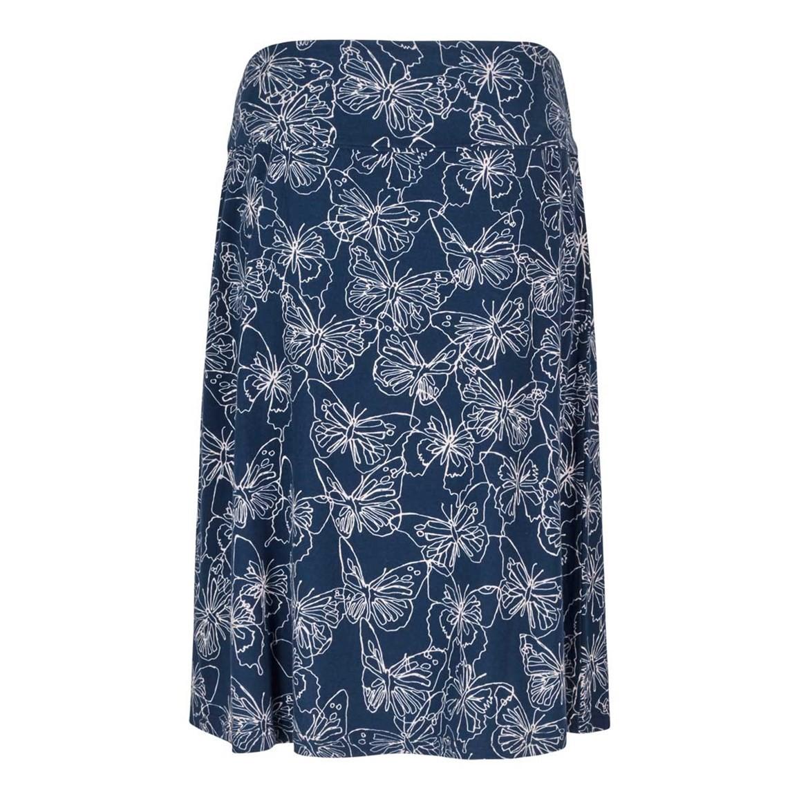 Weird Fish Malmo Printed Jersey Skirt Dark Navy
