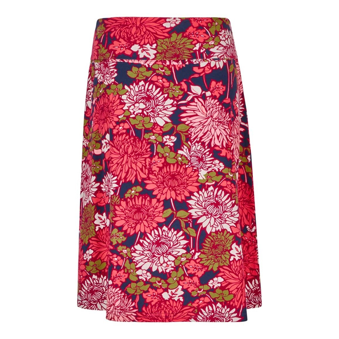Weird Fish Malmo Printed Jersey Skirt Begonia Pink