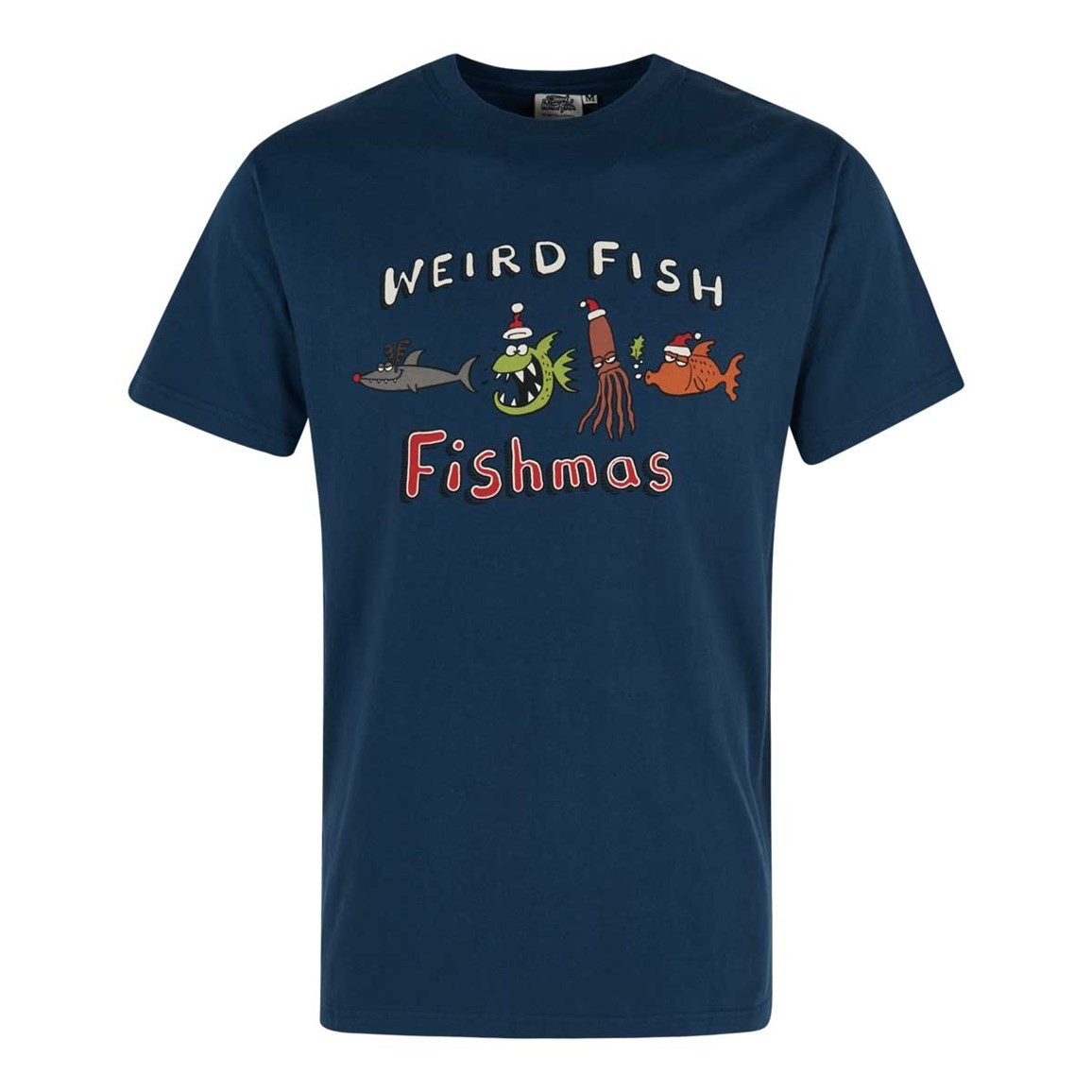 Weird Fish Fishmas Artist T-Shirt Ensign Blue