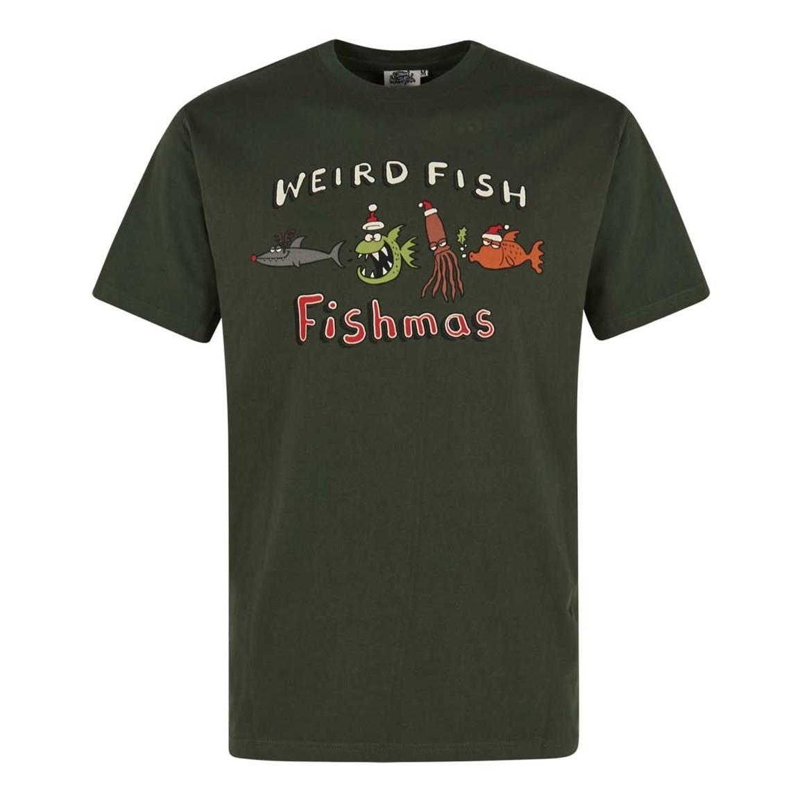 Weird Fish Fishmas Artist T-Shirt Thyme