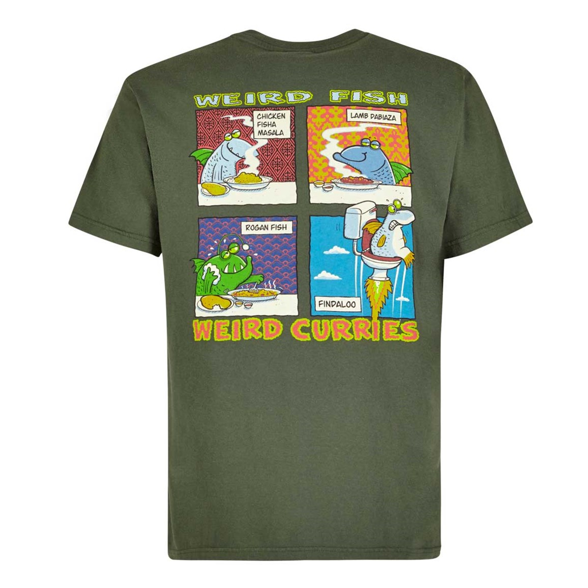 Weird Fish Findaloo Artist T-Shirt Thyme