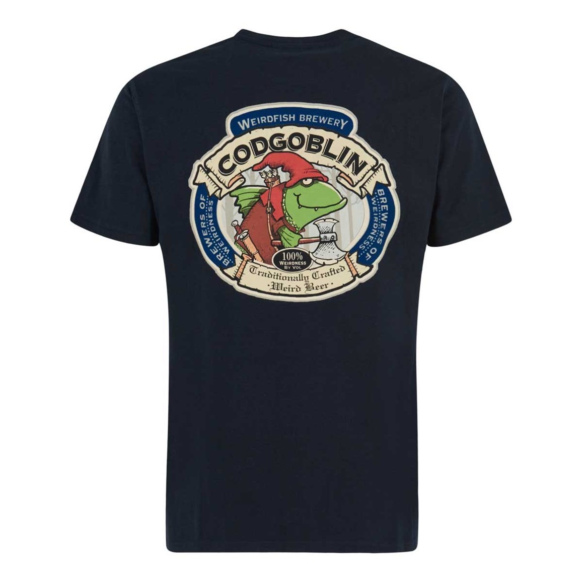 Weird Fish Cod Goblin Artist T-Shirt Carbon