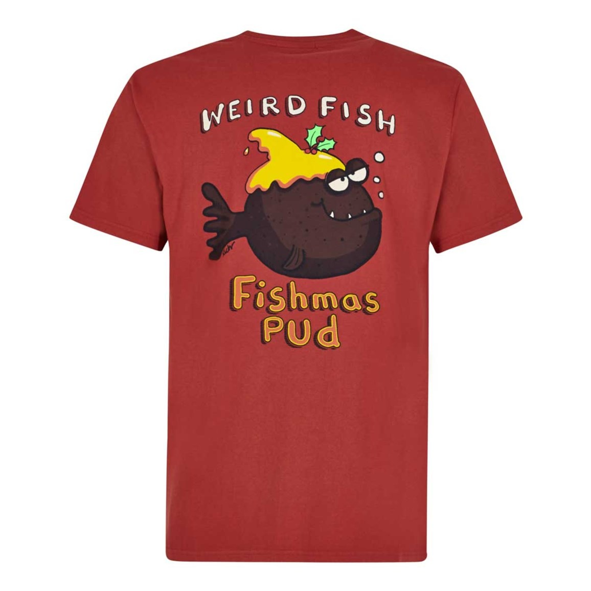 Weird Fish Fishmas Pud Artist T-Shirt Ketchup Red