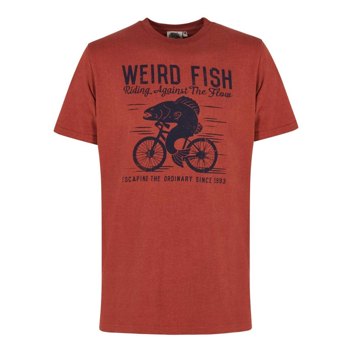 Weird Fish Fish Cycle Graphic T-Shirt Burnt Brick Marl