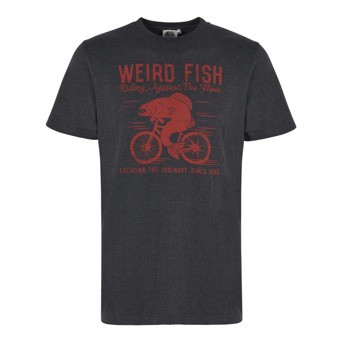 Weird Fish Fish Cycle Graphic T-Shirt Dark Shadow Marl