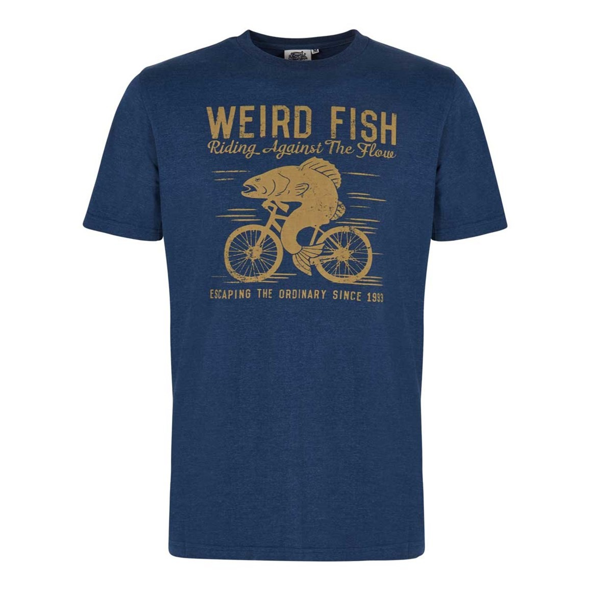 Weird Fish Fish Cycle Graphic T-Shirt Ensign Blue Marl