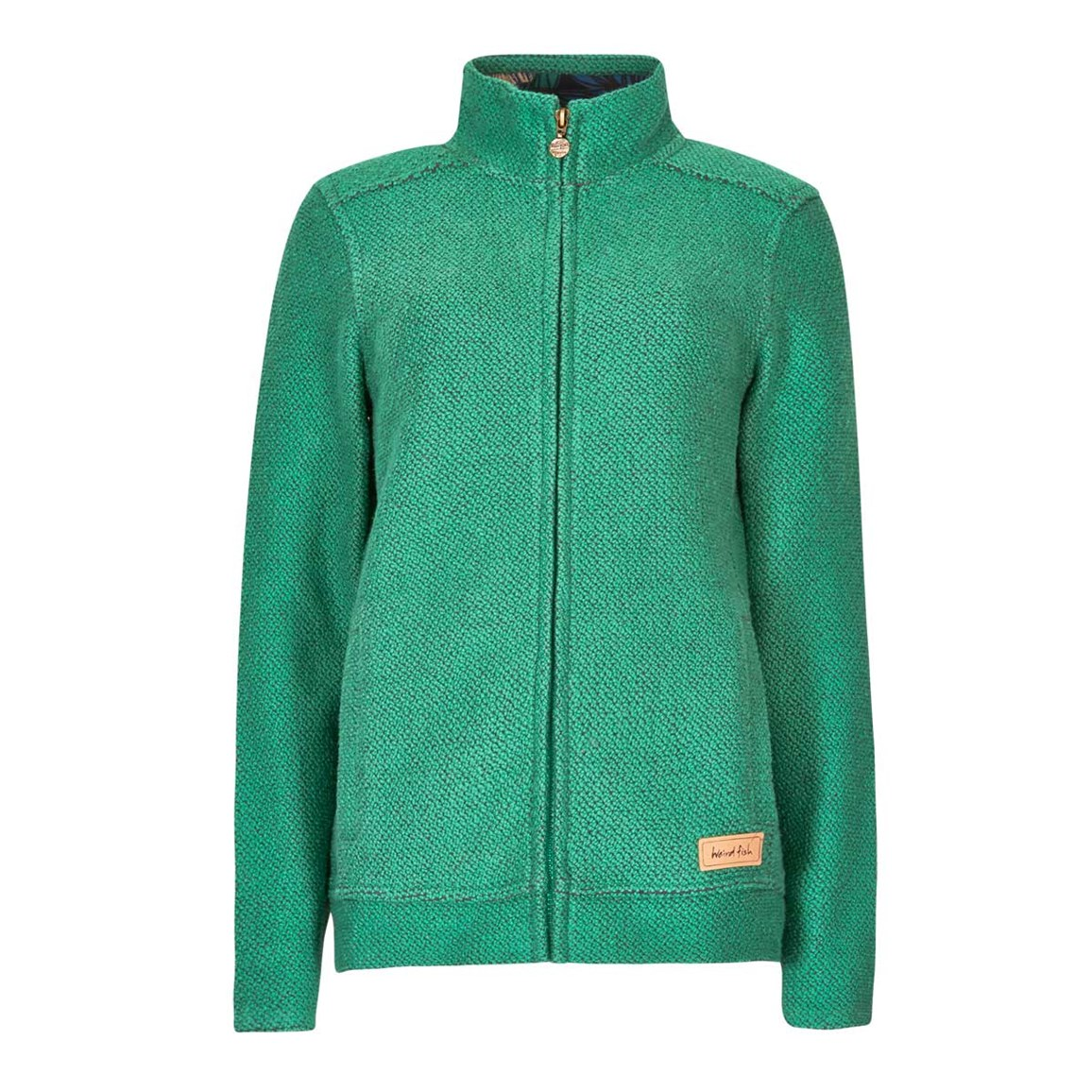 Image of Weird Fish Wilderness Full Zip Classic Macaroni Sweatshirt Fir Green Size 10