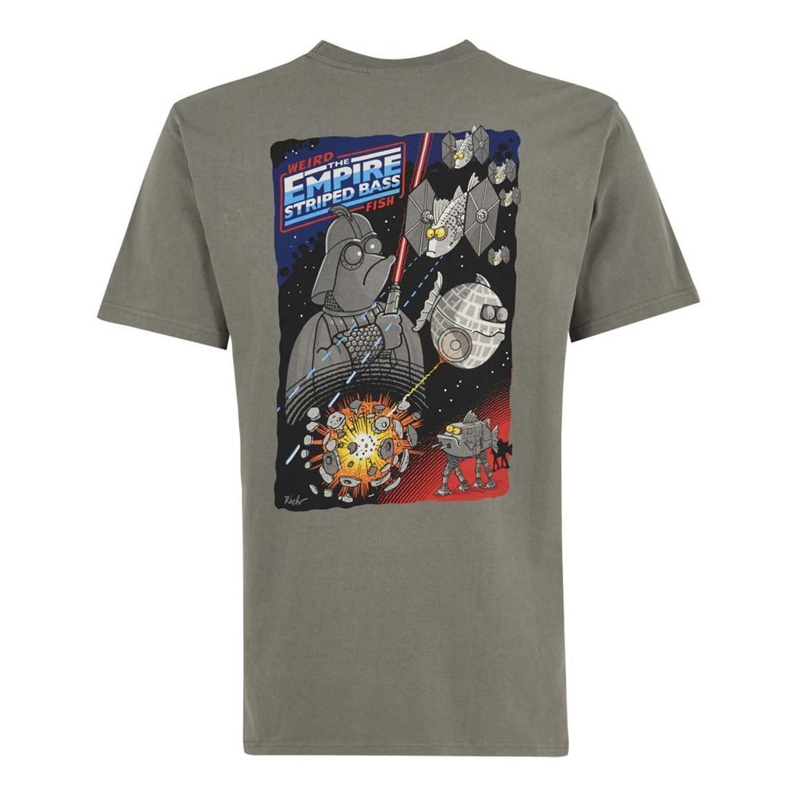 Image of Weird Fish Empire Striped Bass Artist T-Shirt Artichoke Size 2XL
