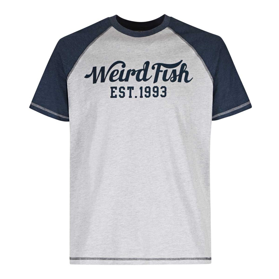 Weird Fish Bing Graphic Print T-Shirt Grey Marl