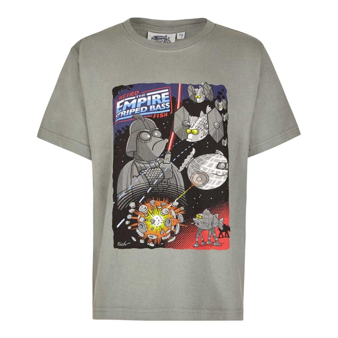 Image of Weird Fish Empire Striped Bass Boy's Artist T-Shirt Artichoke Size 7-8