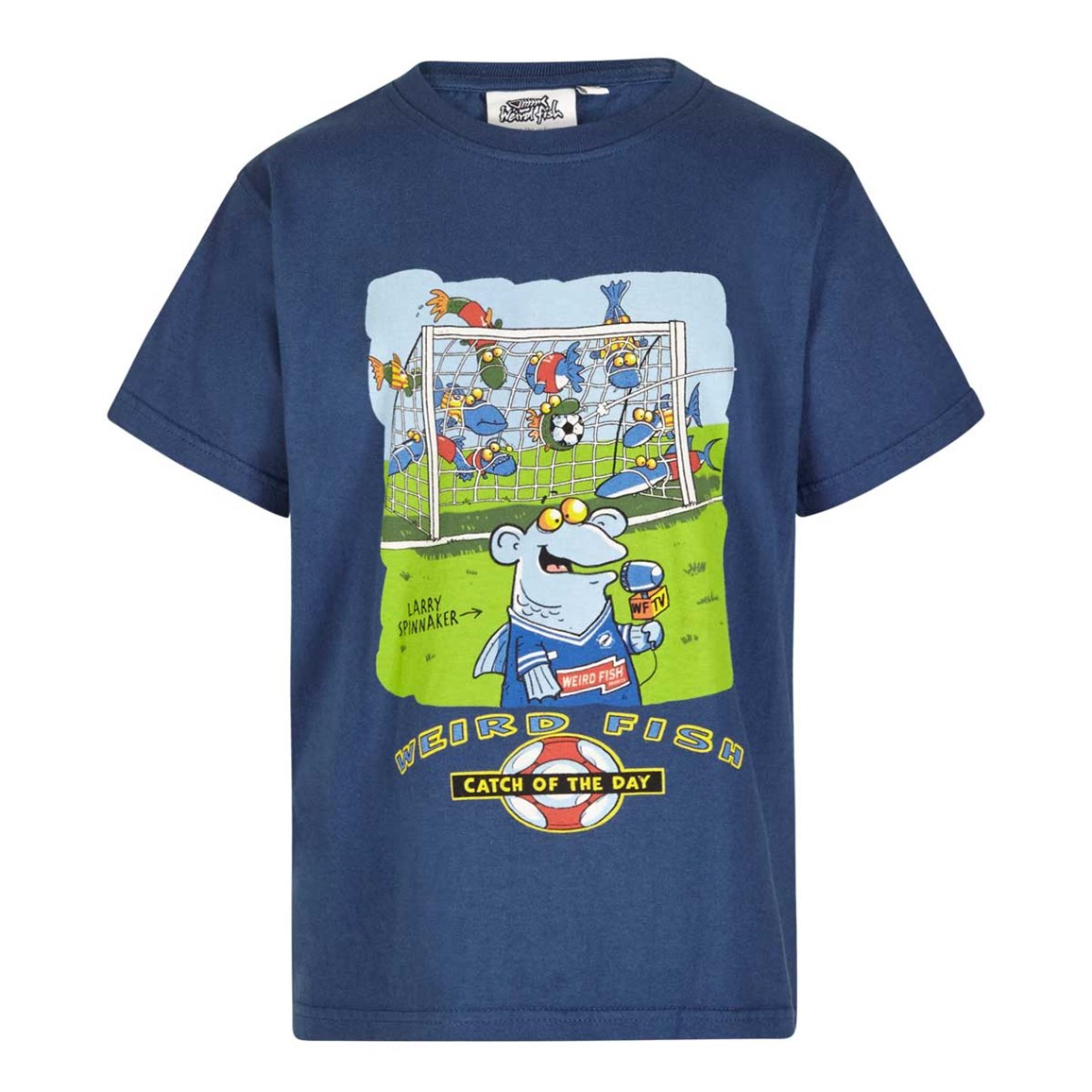 Image of Weird Fish Catch Of The Day Boy's Artist T-Shirt Ensign Blue Size 7-8