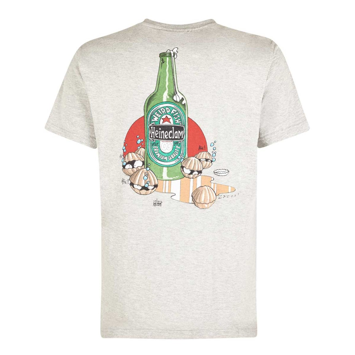 Weird Fish Heineclam Artist T-Shirt Grey Marl