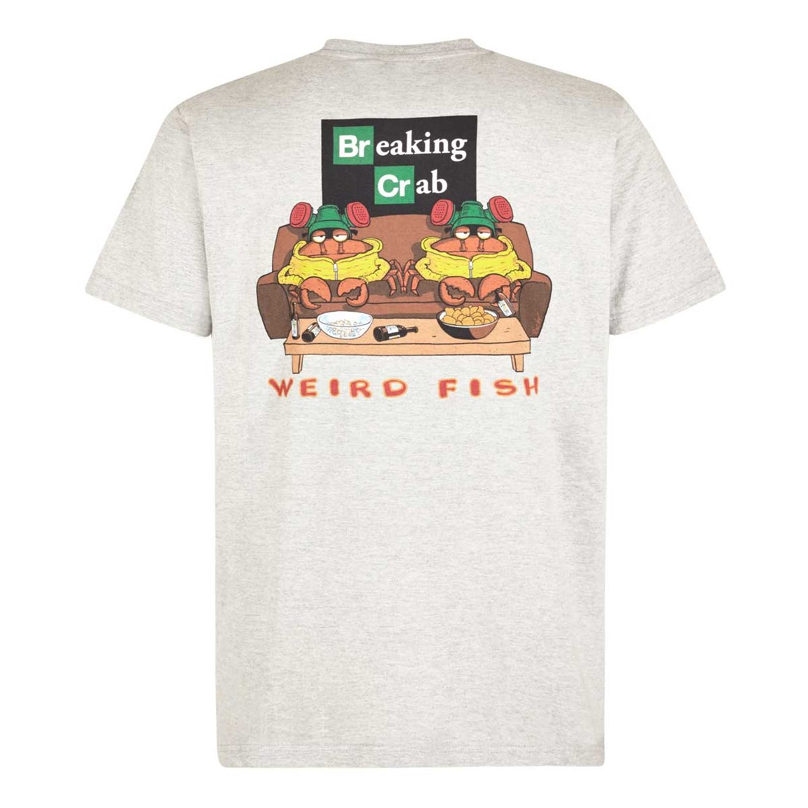 Weird Fish Breaking Crab Artist T-Shirt Grey Marl
