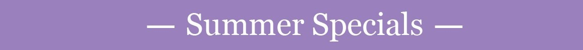 Women's Summer Specials