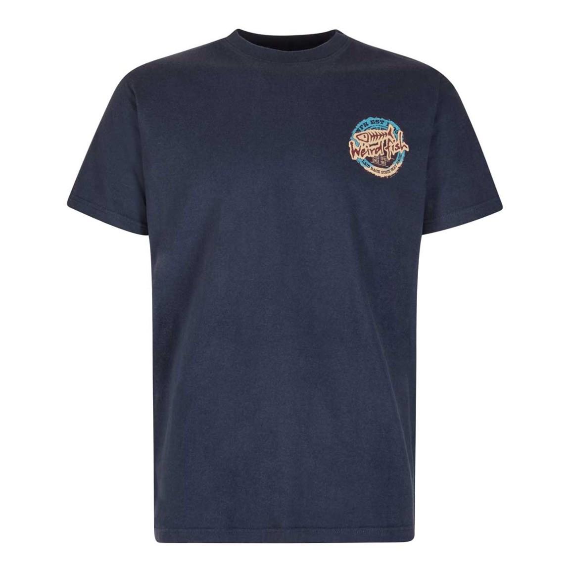 Haggerstan Graphic Print T Shirt Dark Navy