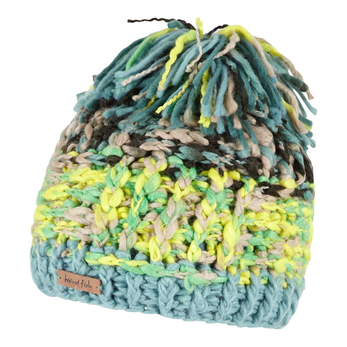 Weird Fish Clearwater Yarn Tassel Hat Fir Green