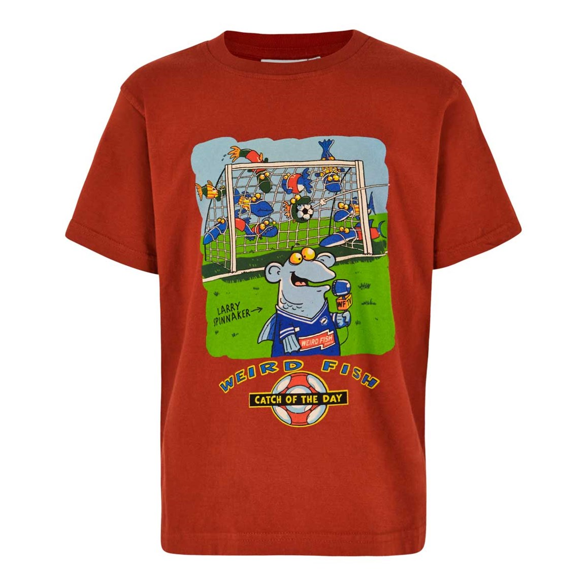 Image of Weird Fish Catch Of The Day Boy's Artist T-Shirt Ketchup Red Size 7-8
